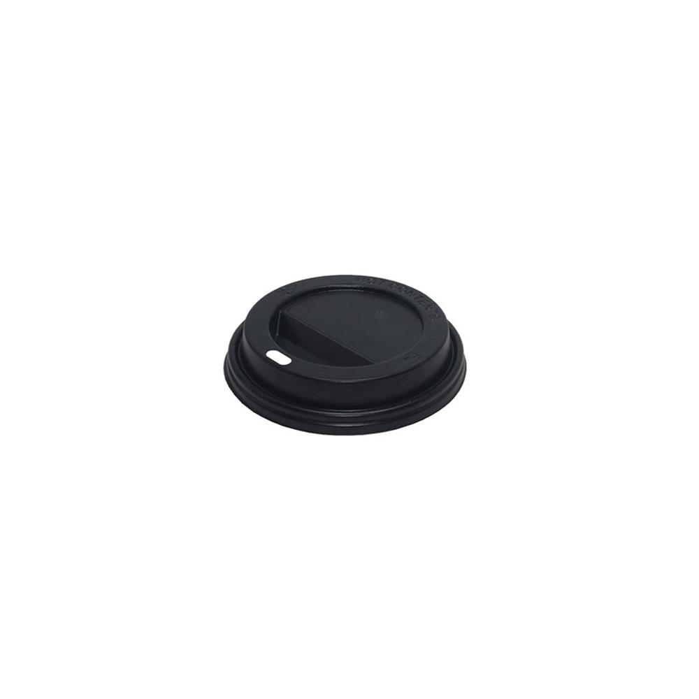 12 oz Sıcak İçeçek Kapağı Siyah